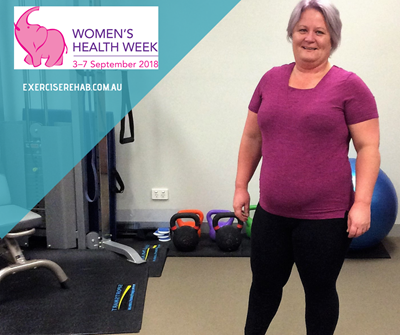 Karen Cook leads our mission this Women's Health Week at Exercise for Rehabilitation and Health